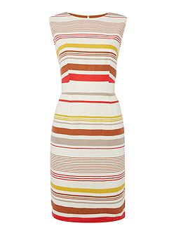 Sophia linen stripe dress
