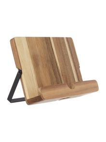 Natural Elements Acacia Cookbook & Tablet Stand
