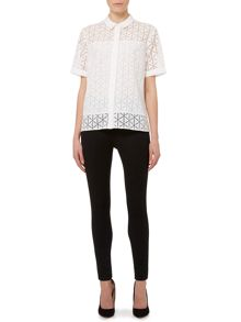 Pied a Terre Top geo burnout shirt