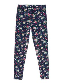 Girls Vintage floral print leggings