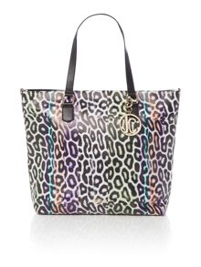 Just Cavalli Multi coloured leopard print tote bag