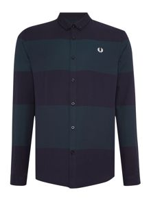 Fred Perry Textured horizontal stripe shirt