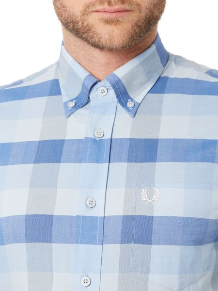 Fred Perry Textured gingham long sleeve shirt