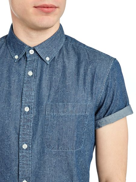 Criminal Trueman Japanese Print Short Sleeve Shirt
