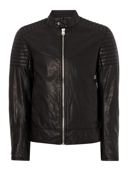 G-Star Attacc leather look bomber jacket