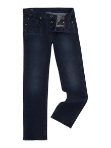 G-Star 3301 dark aged straight leg jean