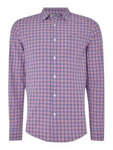 Benetton Long Sleeved Checked Shirt