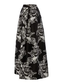 Pied a Terre Floral Jacquard Maxi Skirt