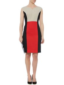 Linea Sophia linen colourblock dress