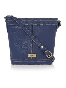 Ollie & Nic Gregory navy bucket crossbody bag