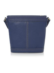 Gregory navy bucket crossbody bag
