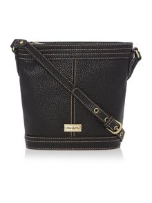 Ollie & Nic Gregory black bucket crossbody bag