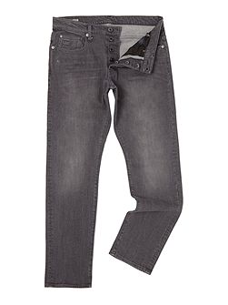 Stean medium aged grey tapered fit jean