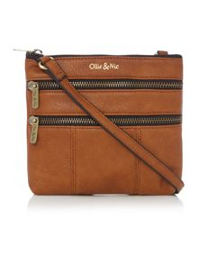 Ollie & Nic Greta tan mini crossbody bag