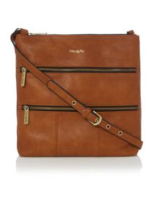 Ollie & Nic Greta tan large crossbody bag