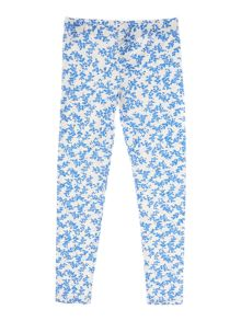 Girls Ditsy floral print leggings