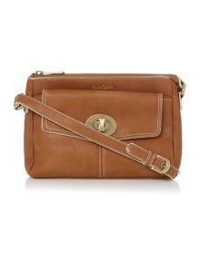 Monroe light tan crossbody bag