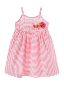 Benetton Girls Striped seersucker dress