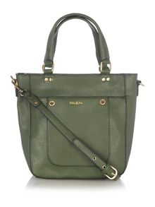 Ollie & Nic Cabana green mini tote bag