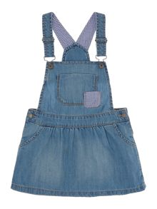 Benetton Girls Dungaree dress