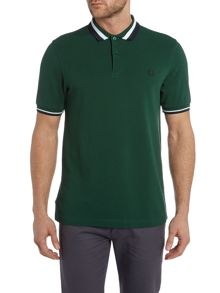 Textured bold tipped polo