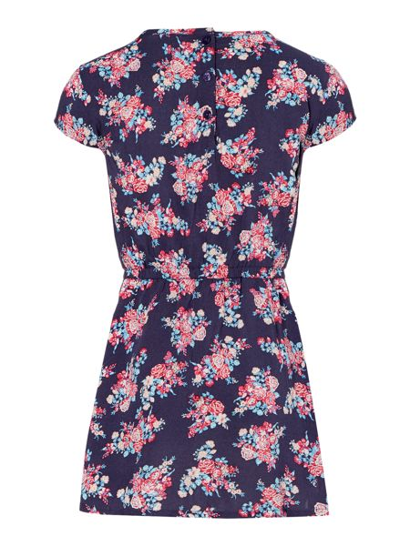 Benetton Girls Cap Sleeve Floral Dress