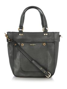 Ollie & Nic Cabana black mini tote bag