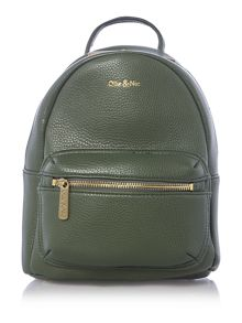 Ollie & Nic Cabana green mini backpack bag