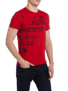 Armani Jeans Regular Fit Large Logo T Shirt
