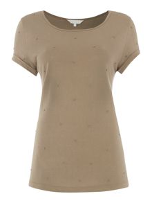 Gray & Willow Bina beaded t-shirt