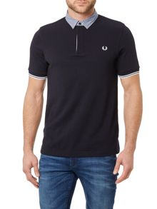 Fred Perry Woven fabric collar polo