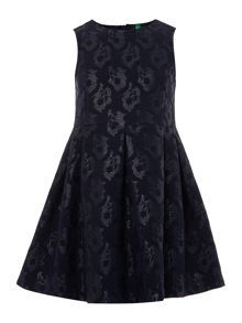 Girls Jacquard print sparkly dress