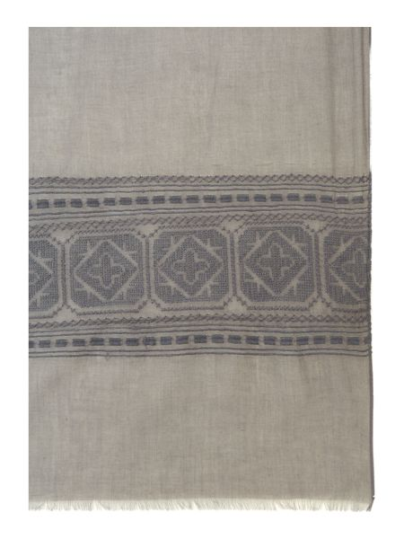 Gray & Willow Embroidered Rectangle Scarf