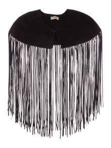 Label Lab Suede tassel cape
