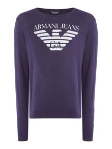 Armani Jeans Long Sleeve Cotton Knitted Polo