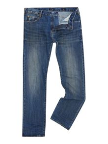 Armani Jeans Tapered Fit Mid Wash Jeans