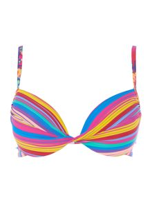 Lepel Sun kiss twist plunge moulded bikini top