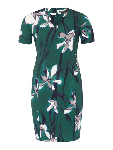 Marina Rinaldi Destino flaral shift dress
