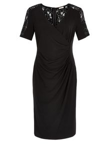 Lace Yoke Jersey Dress