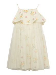 Benetton Girls Floral frill dress