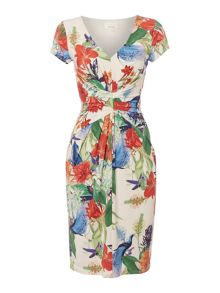 Chinoiserie print dress