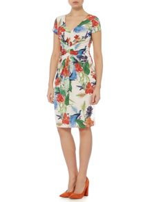Linea Chinoiserie print dress
