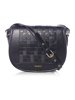 Inca black saddle bag
