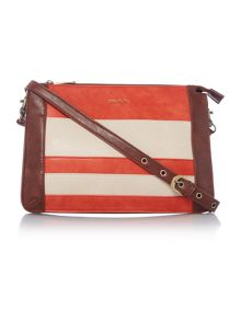 Ollie & Nic Jones orange multi shoulder bag