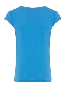 Benetton Girls Crew neck tee with bow