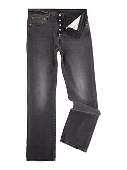 Men's Levi's 501 Original Fit Black Range Jeans
