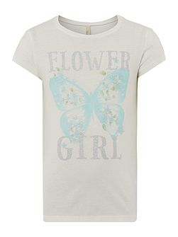 Girls Flower girl graphic tee