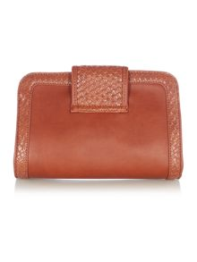 Ollie & Nic Kane tan crossbody clutch bag