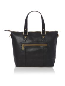 Orlando black trapeze tote bag