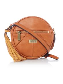 Ollie & Nic Pasha tan round crossbody bag